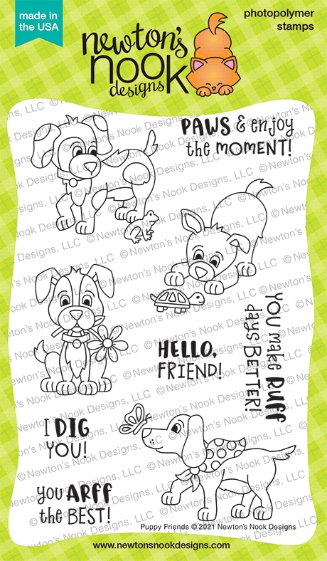 Newton's Nook Designs PUPPY FRIENDS Clear Stamps NN2104S02 zoom image