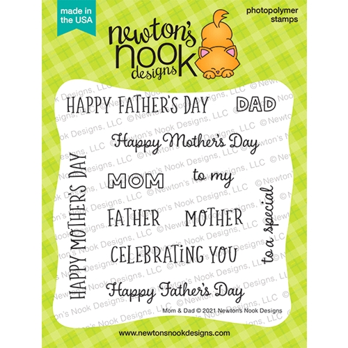 Newton's Nook Designs MOM AND DAD Clear Stamps NN2104S07 Preview Image