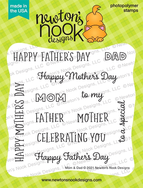 Newton's Nook Designs MOM AND DAD Clear Stamps NN2104S07 zoom image