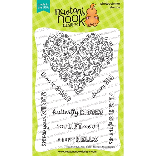 Newton's Nook HEARTFELT BUTTERFLIES Clear Stamps NN2104S05 Preview Image