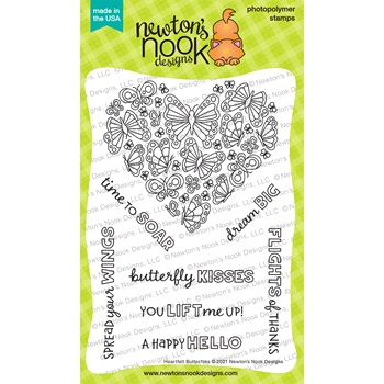 Newton's Nook HEARTFELT BUTTERFLIES Clear Stamps NN2104S05