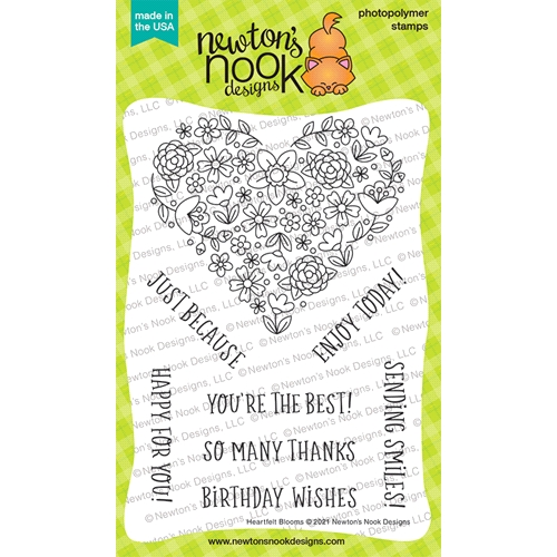Newton's Nook Designs HEARTFELT BLOOMS Clear Stamps NN2104S06 Preview Image