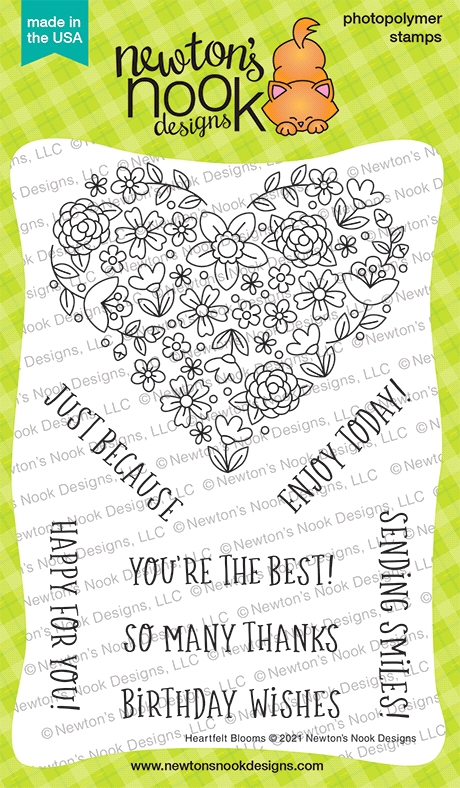 Newton's Nook Designs HEARTFELT BLOOMS Clear Stamps NN2104S06 zoom image
