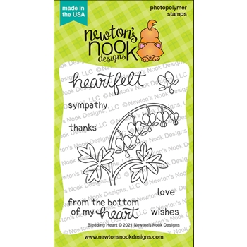 Newton's Nook Designs BLEEDING HEART Clear Stamps NN2104S04