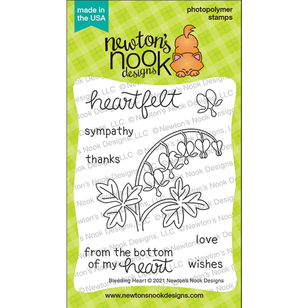 Newton's Nook Designs BLEEDING HEART Clear Stamps NN2104S04 zoom image