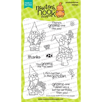 Newton's Nook Designs GNOME GARDEN Clear Stamps NN2104S03