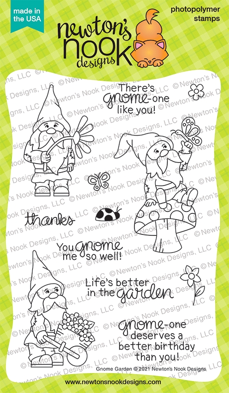 Newton's Nook Designs GNOME GARDEN Clear Stamps NN2104S03 zoom image