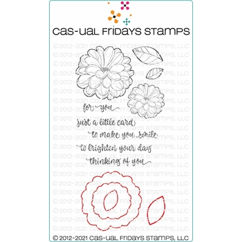 CAS-ual Fridays FLOWERY DUO Clear Stamp and Die Set cfsd2103