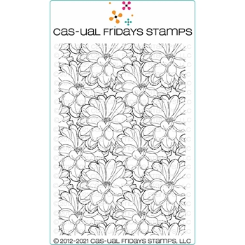 CAS-ual Fridays FLOWERY BACKGROUND Clear Stamp cfs2101