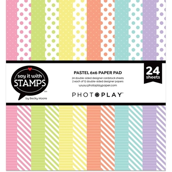 PhotoPlay PASTEL DOTS AND STRIPES 6 x 6 Paper Pad sis2717