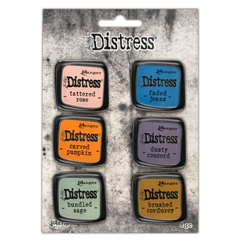 Tim Holtz Distress Enamel Pin SET 8 Ranger tdzs73505