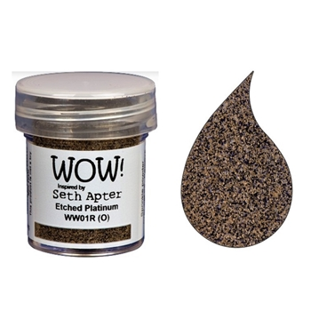 WOW Embossing Powder ETCHED PLATINUM WW01R