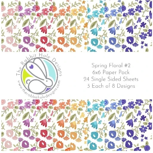 The Rabbit Hole Designs SPRING FLORALS 2 6 x 6 Paper PAD TRH 02PP Preview Image