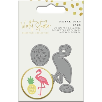 Crafter's Companion PINEAPPLE AND FLAMINGO Mini Die Set vssum017