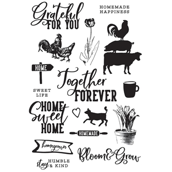 Simple Stories FARMHOUSE GARDEN Clear Stamp Set 15029