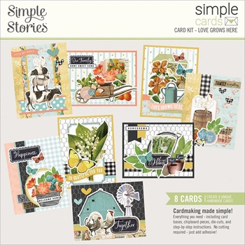 Simple Stories FARMHOUSE GARDEN Card Kit 15033