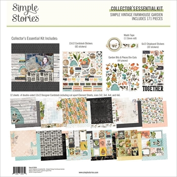 Simple Stories FARMHOUSE GARDEN 12 x 12 Collector's Essential Kit 15034