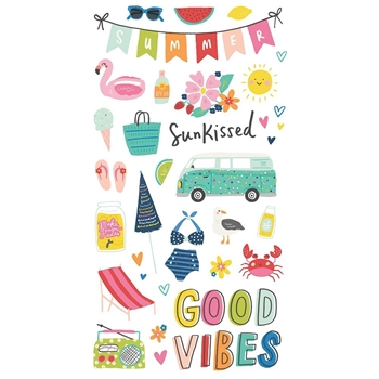 Simple Stories SUNKISSED 6 x 12 Chipboard Stickers 15115