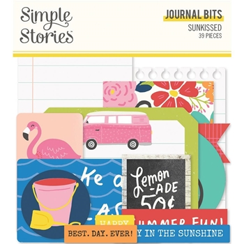 Simple Stories SUNKISSED Journal Bits And Pieces 15117