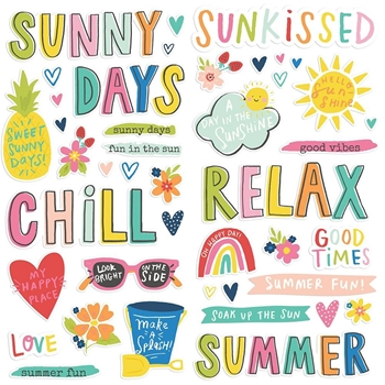 Simple Stories SUNKISSED Foam Stickers 15119