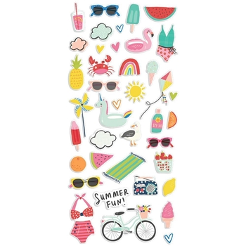 Simple Stories SUNKISSED Puffy Stickers 15120