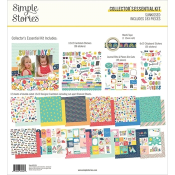 Simple Stories SUNKISSED 12 x 12 Collector's Essential Kit 15129