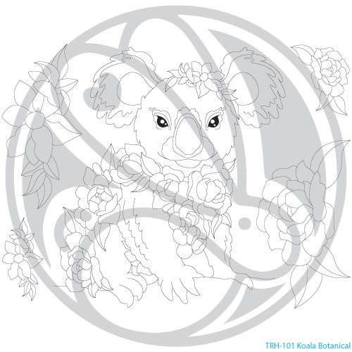 The Rabbit Hole Designs KOALA BOTANICAL Clear Stamps TRH 101 Preview Image