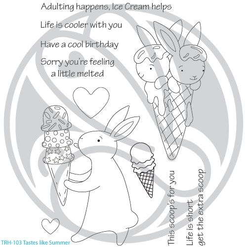The Rabbit Hole Designs TASTES LIKE SUMMER Clear Stamps TRH 103  Preview Image