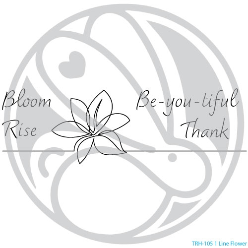 The Rabbit Hole Designs 1 LINE FLOWER Clear Stamps TRH 105 zoom image