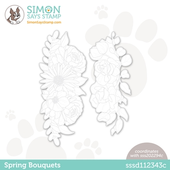 Simon Says Stamp SPRING BOUQUETS Wafer Dies sssd112343c Born To Sparkle
