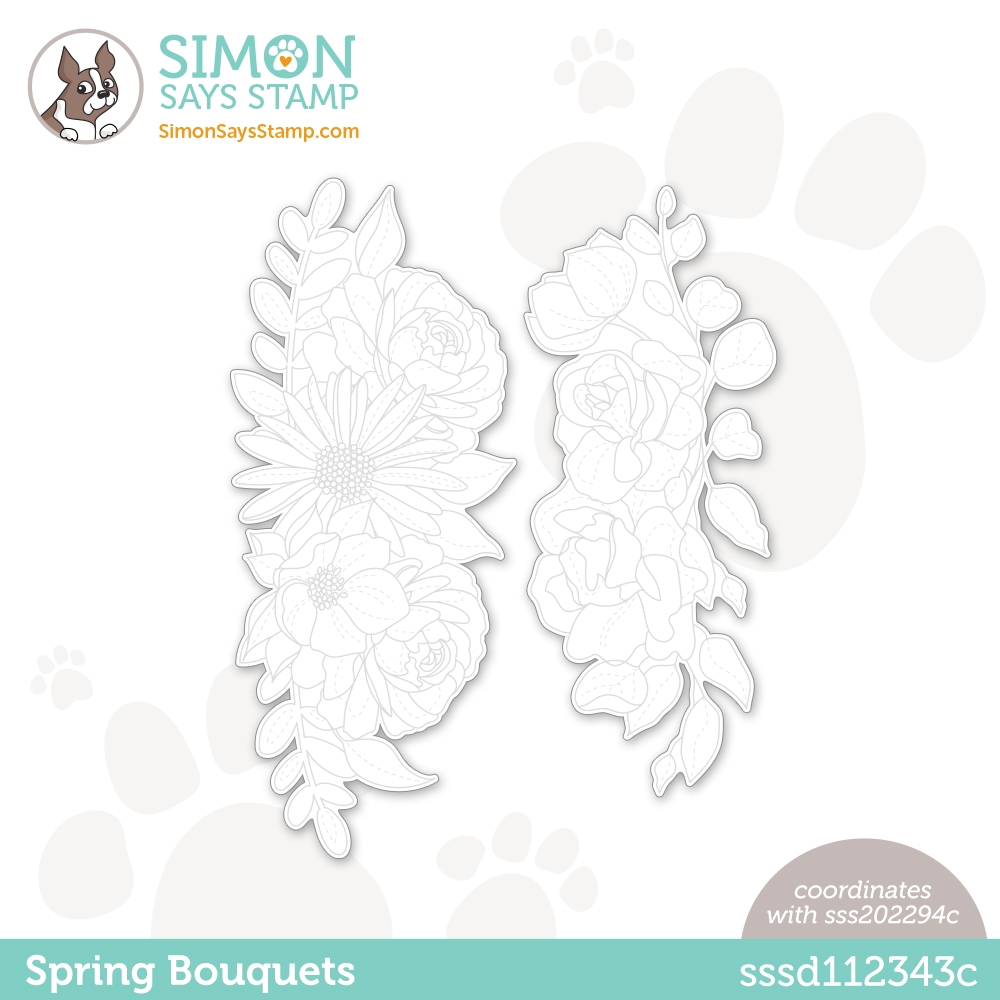 Simon Says Stamp SPRING BOUQUETS Wafer Dies sssd112343c Born To Sparkle zoom image