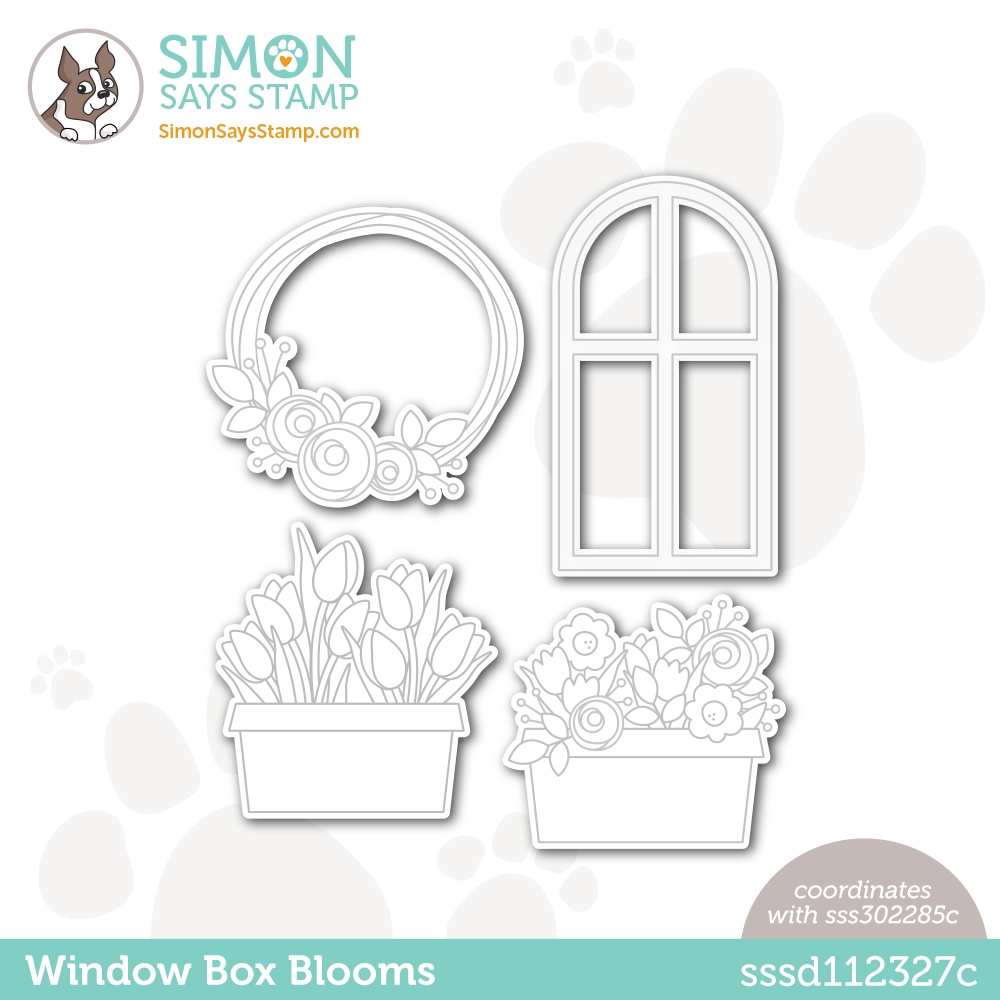 Simon Says Stamp WINDOW BOX BLOOMS Wafer Dies sssd112327c Born To Sparkle zoom image