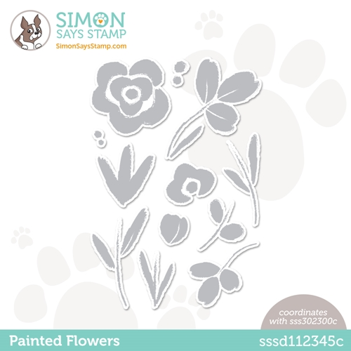 Simon Says Stamp PAINTED FLOWERS Wafer Dies sssd112345c Born To Sparkle Preview Image
