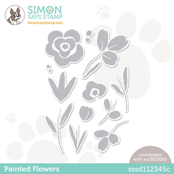 Simon Says Stamp PAINTED FLOWERS Wafer Dies sssd112345c Born To Sparkle