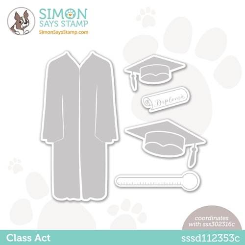 Simon Says Stamp CLASS ACT Wafer Dies sssd112353c Born To Sparkle Preview Image