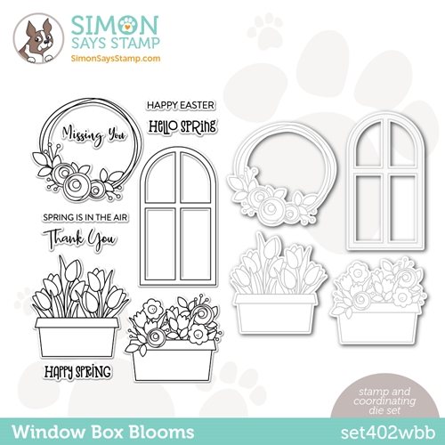 Simon Says Stamps and Dies WINDOW BOX BLOOMS set402wbb Born To Sparkle Preview Image