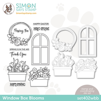 Simon Says Stamps and Dies WINDOW BOX BLOOMS set402wbb Born To Sparkle