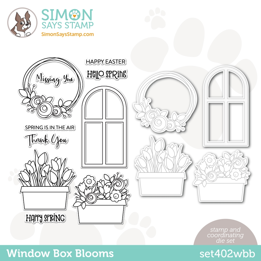 Simon Says Stamps and Dies WINDOW BOX BLOOMS set402wbb Born To Sparkle zoom image