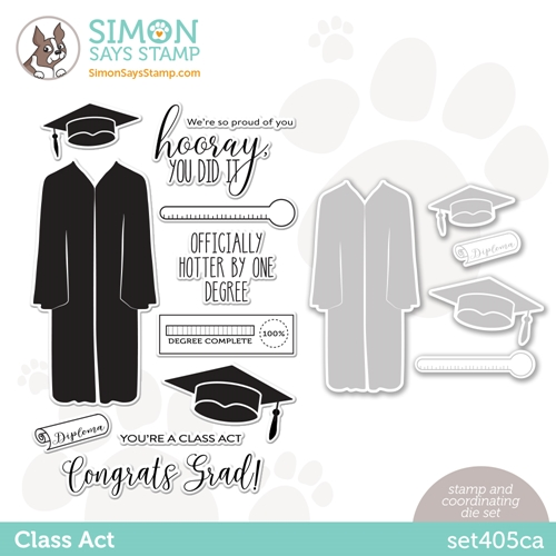 Simon Says Stamps and Dies CLASS ACT set405ca Born To Sparkle Preview Image