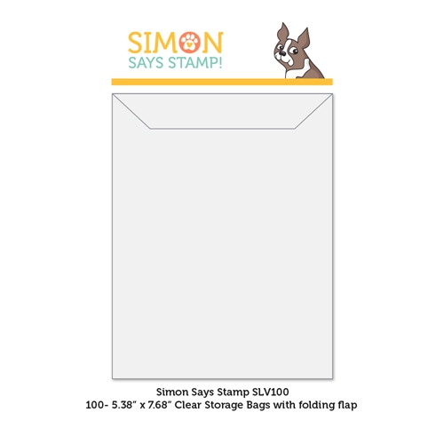 Simon Says Stamp Clear STORAGE SLEEVES 100 Quantity slv100 Born To Sparkle Preview Image