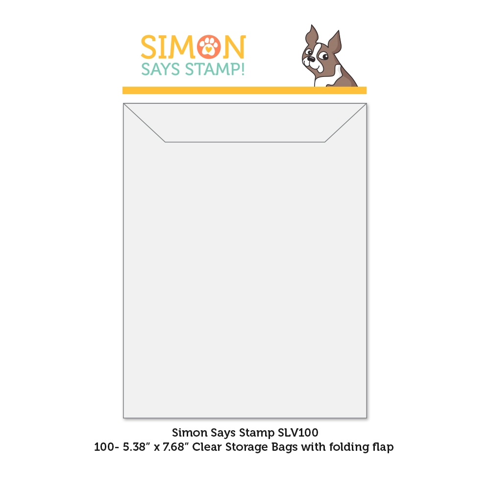 Simon Says Stamp Clear STORAGE SLEEVES 100 Quantity slv100 Born To Sparkle zoom image