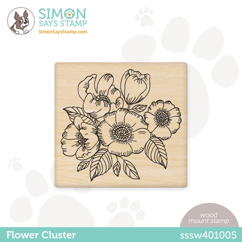 Simon Says Wood Stamp FLOWER CLUSTER sssw401005 Born To Sparkle Preview Image