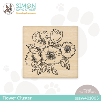 Simon Says Wood Stamp FLOWER CLUSTER sssw401005 Born To Sparkle