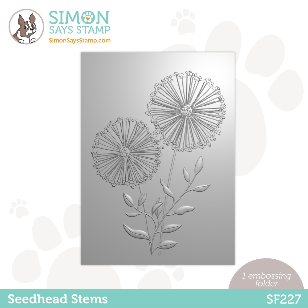 Simon Says Stamp Embossing Folder SEEDHEAD STEMS sf227 Born To Sparkle zoom image