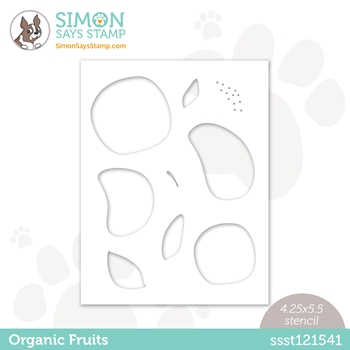 Simon Says Stamp Stencil ORGANIC FRUITS ssst121541 Born To Sparkle