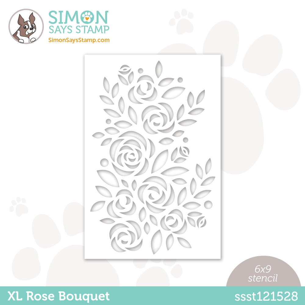 Simon Says Stamp Stencil XL ROSE BOUQUET ssst121528 Born To Sparkle zoom image