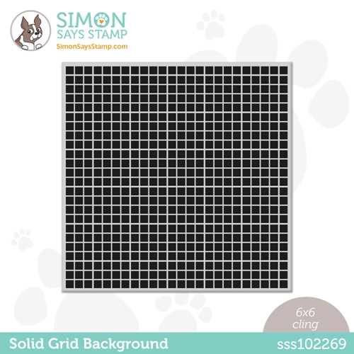 Simon Says Cling Stamp SOLID GRID BACKGROUND sss102269 Born To Sparkle Preview Image