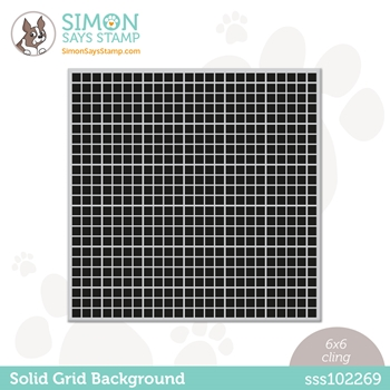Simon Says Cling Stamp SOLID GRID BACKGROUND sss102269 Born To Sparkle