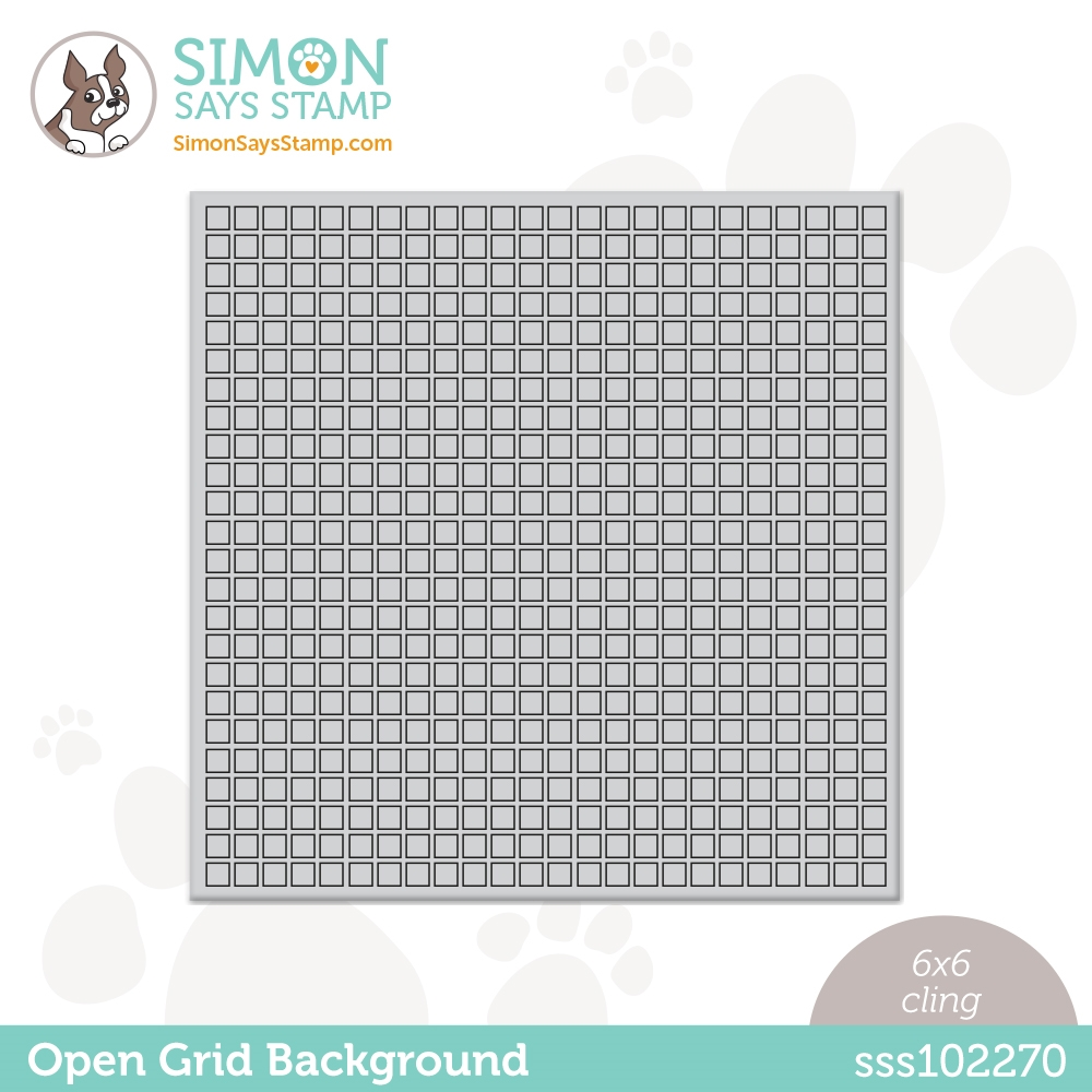 Simon Says Cling Stamp OPEN GRID BACKGROUND sss102270 Born To Sparkle zoom image