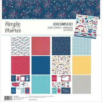 Simple Stories STARS STRIPES AND SPARKLERS 12 x 12 Collection Kit 15300